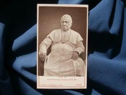 Photo CDV Ad. Braun à Dornach - Portrait Pie IX Photographié Au Vatican 13 Mai 1875 L356 - Alte (vor 1900)