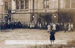 Cpa Carte Photo STRASBOURG 67 M. Le Président POINCARE Sortant De La Gare 09.02.1918 - Strasbourg