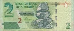 BILLETE DE ZIMBAWE DE 2 DOLLARS DEL AÑO 2016 (BANKNOTE-BANK NOTE) - Zimbabwe