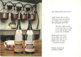 Cartolina Pubblicitaria Goccia Di Carnia 1970 - Otros