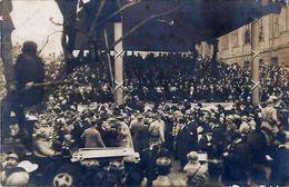 Cpa Carte Photo STRASBOURG 67 MM. Poincaré Et Clemenceau à Strasbourg, Le 9 Décembre 1918 - Tribune - - Strasbourg