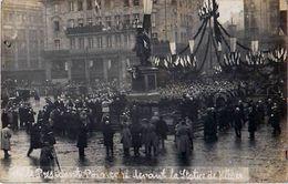 Cpa Carte Photo STRASBOURG 67 M. Le Président Poincaré Devant La Statue De Kléber - Strasbourg