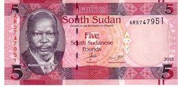 South Sudan P.new  5 Pounds 2015  Unc - Soudan Du Sud