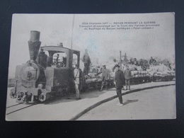 CPA 17 Royan Pendant La Guerre Transport Et Sauvetage Par Le Tram Des Farines Provenant Du Naufrage Peter Jebsen - Royan