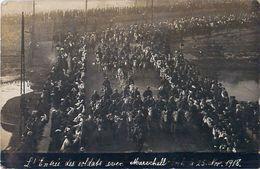 Cpa Carte Photo STRASBOURG 67 Entrée Des Soldats Avec Maréchal FOCH Le 25 Nov 1918 - Strasbourg