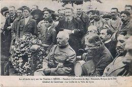 Cpa MENIL 88 Le 28 Août 1917 Sur Les Tombes - Général De Castelnau ( Maurice Barrès Annoté Au Crayon à Droite ) - Sonstige Gemeinden