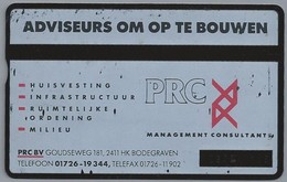 NL.- Telefoonkaart. PTT Telecom. 4 Eenheden. PRC. BV, GOUDSEWEG 181, BODEGRAVEN. ADVISEURS OM OP TE BOUWEN. 304L - Sport