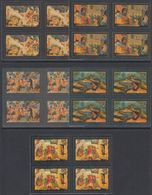 USSR Russia 1982 Block Folklore Folk Art Lacquerware Painting Story Tale Stories Soviet Ustera Stamps MNH Mi 5194-5198 - Fairy Tales, Popular Stories & Legends