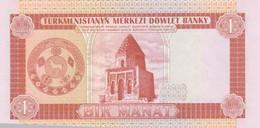 Rox Turkmenistan 1 Manat 1993  FDS - Turkmenistan