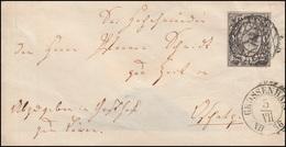Sachsen 8I König Johann 1/2 Ngr EF Brief Mit Nummer 18 GROSSENHEIN 5.7.1856 - Saxony