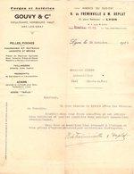 DIEULOUARD HOMBOURG- HAUT Et ARC LES GRAY  LYON  COURRIER 1928  FORGES ET ACIERIES  GOUVY   * Z78 - Francia