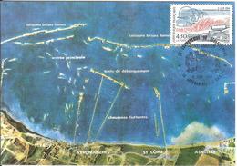 BT14-03 - ARROMANCHES - Premier Jour - Débarquement, D-DAY, WW2 - Carte Maximum - Poststempel (Briefe)