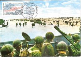 BT14-04 - ARROMANCHES - Premier Jour - Débarquement, D-DAY, WW2 - Carte Maximum - Poststempel (Briefe)