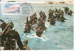 BT14-05 - BAYEUX - Premier Jour - Débarquement, D-DAY, WW2 - Carte Maximum - Poststempel (Briefe)