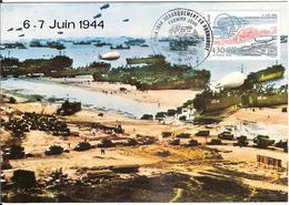 BT14-06 - BAYEUX - Premier Jour - Débarquement, D-DAY, WW2 - Carte Maximum - Poststempel (Briefe)