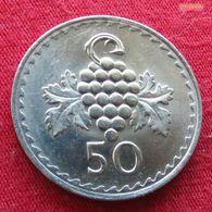 Cyprus 50 Mils 1980 KM# 41 Chipre Zypern - Chypre