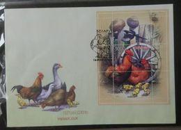 Belarus 2009. Domestic Birds. Miniature Sheet FDC - Bielorussia