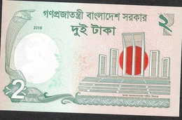 BANGLADESH  P52e   2 TAKA  2016 Signature 16  UNC. - Bangladesh