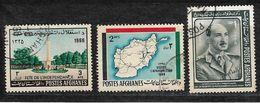 Afghanistan Stamp 1966 Independence Memorial 3af, 1968 Road Map Of Afghanistan 2AF Tourist Publicity, 1966 Zahir Shah 1A - Afghanistan