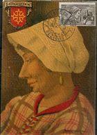 CARTE PJ DE LA JOURNEE DU TIMBRE 1942 / CARTE MAXIMUM - FDC