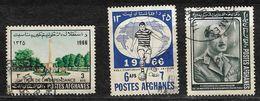 Afghanistan Stamp 1966 Zahir Shah 1A, 1966 Independence Memorial 3af, 966 Footballer 6AFS, Football World Cup 1966 - Afghanistan
