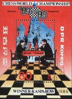 DPR Korea (Coree Du Nord) 1986 Chess, Game Used Cancelled Block M/S (U-49) - Chess