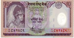 Nepal P.54 10 Rupees 2007  Unc - Nepal
