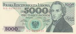 Rox Poland 5000 Zlotych 1982 FDS - Pologne