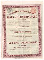 Ancienne Action - Compagnie Internationale De Mines Et Charbonnages - Titre De 1903 - - Mines