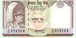 Nepal P.31b 10 Rupees 2001  Unc - Nepal