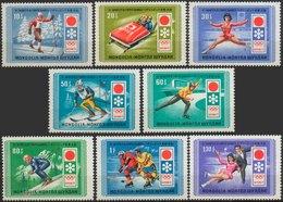 //// JO 1972 - MONGOLIE - Yvert : 596 / 603** - Michel : 667 / 674** - Hiver 1972: Sapporo