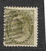 CANADA YVERT 72 USED. - 1851-1902 Règne De Victoria