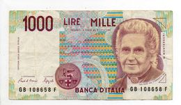 - Billet 1000 LIRE 1990 - - [ 2] 1946-… : Républic