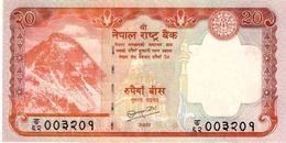 Nepal P.62b  20 Rupees 2010  Unc - Nepal