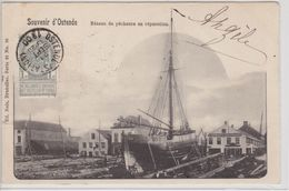 Oostende - Bâteaux De Pêcheurs En Réparation - Oostende