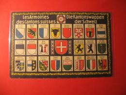 CARTOLINA   LES ARMOIRIES DES CANTONS SUISSES   D - 3326 - Altri