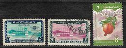 Afghanistan Stamp 1964 Kabul International Airport 50AF, 20AF, 1984 Pomegranate (Punica Granatum) 6AF World Food Day - Afghanistan