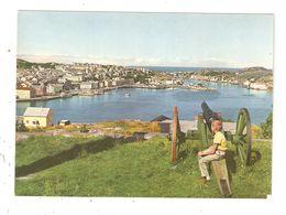 CPA Norvège Norway Norvegen KRISTIANSUND Utsikt Over Byen Fra Innlandet Viex Of The Town Vue De La Ville Uvanlig - Norwegen