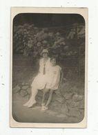 Carte Photo , Enfant , Petite Fille , Femme , 1926,  BIARRITZ , Promenade Des Tamaris , Vierge - Biarritz