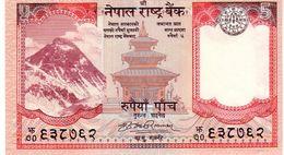 Nepal P.60a   5 Rupees 2007  Unc - Nepal