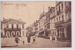 Ostende - Place D'Armes - Place Of Arms (goed Zicht Op De Bibliotheek) - Oostende