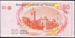 TUNISIA P93 20 DINARS 2011  UNC. - Tunisia