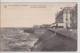 Ostende - Mariakerke-lez-Osrende La Plage à Marée Haute (achterkant Royal Palace) - Oostende