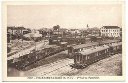 VILLENEUVE TRIAGE - Pris De La Passerelle - TRAIN - Unclassified
