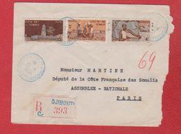 Somalis  - Env De Djibouti  -  Pour Paris  - 25/4/1951 - Covers & Documents
