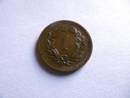 (E123)-SUISSE-1 RAPPEN-1921B-ETAT TB+ - Suisse