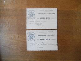 COURS DUPANLOUP 2 TEMOIGNAGES DE SATISFACTION 1929 LA MAITRESSE DE CLASSE R. DECROIX A MADEMOISELLE DOYEN SUZANNE - Diploma & School Reports