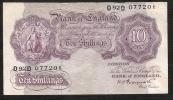 GREAT BRITAIN  P368a  10 SHILLINGS  1948  PEPPIATT      VF+   NO P.h. ! - …-1952 : Before Elizabeth II