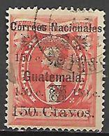 GUATEMALA    -   1886 .  Y&T N° 31 Oblitéré.  Surchargé - Guatemala
