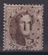 N° 14 A  11 ANTOING COBA +12.00 - 1863-1864 Medallones (13/16)